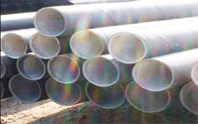 Aboveground steel pipe